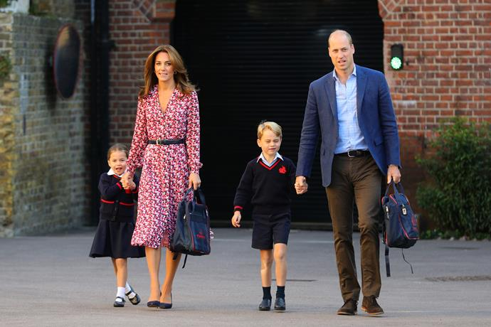 Kate looked absolutely stunning as she and her family stepped out for Charlotte's first ever day at school.