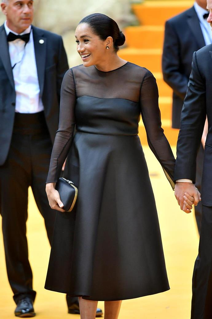The Duchess made a dazzling return to the red carpet when she attended the *Lion King* premiere alongside Prince Harry.