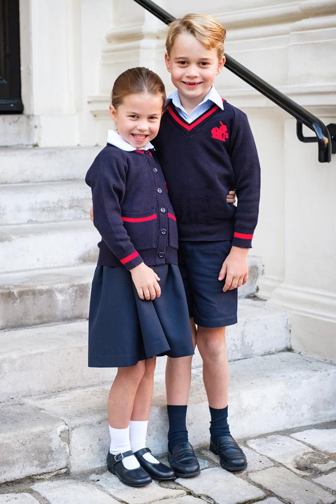 The adorable royal siblings look excited to start the new school year.