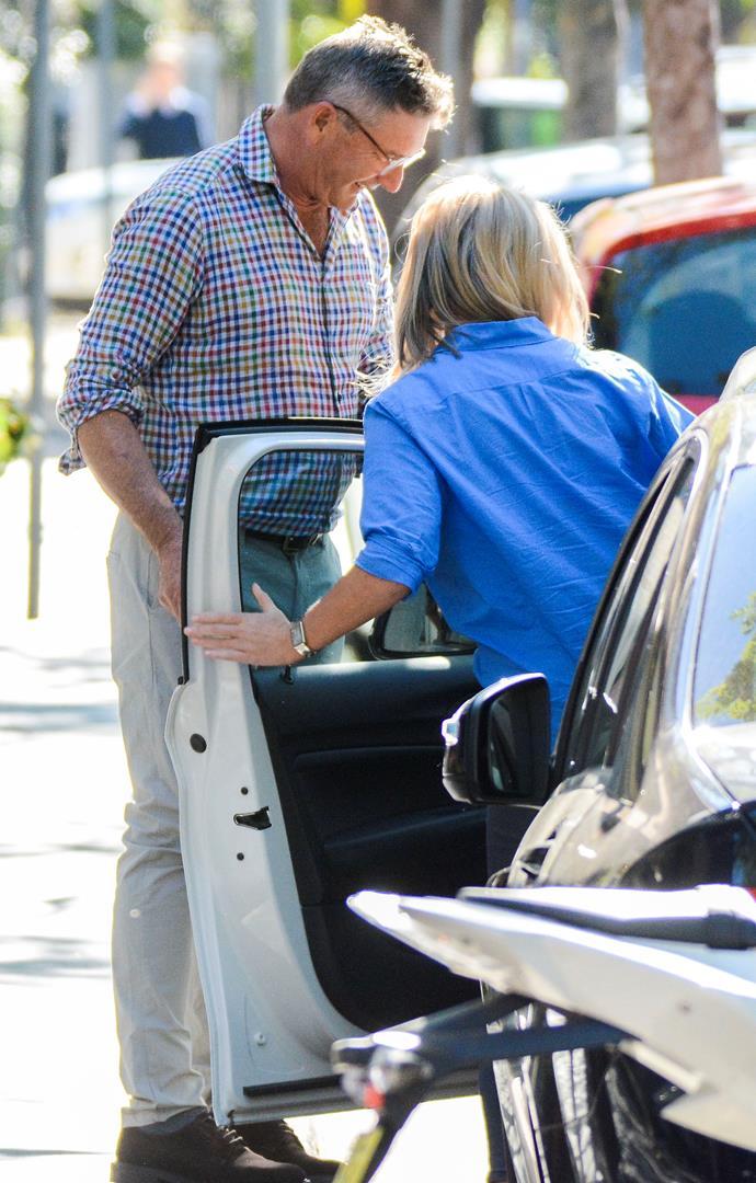 Richard was a true gentleman opening the car door for her.