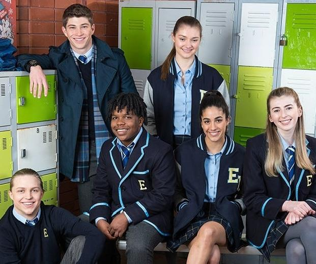 The new promo image for *Neighbours: Erinsborough High*
