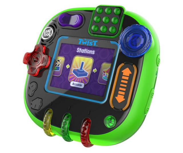 "**[RockIt Twist](https://www.target.com.au/p/leapfrog-rockit-twist-roatable-learning-game-system/62497862|target=""_blank""), $89.95. Available in stores from October 1**  Reinventing educational gaming for children ages four to 10, this new system features light-up controls and 360 degrees of buttons, spinners, sliders and switches which all trigger different moves, providing a unique gameplay experience with a twist.  RockIt Twist comes with multiple games, digital pets and music to help children learn while they play. Twelve preloaded games, across five game play categories, help children learn a variety of skills including literacy, maths, problem solving, science and creativity. Children can even play with three adorable digital pets and nurture them to grow."
