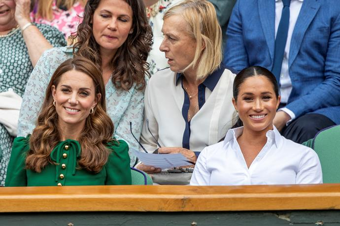 Meghan attended the Wimbledon women's singles final earlier this year, which Serena also competed in.