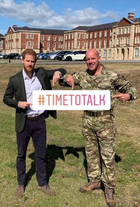 Prince Harry attended a private engagement, where he spoke about mental health for soldiers.
