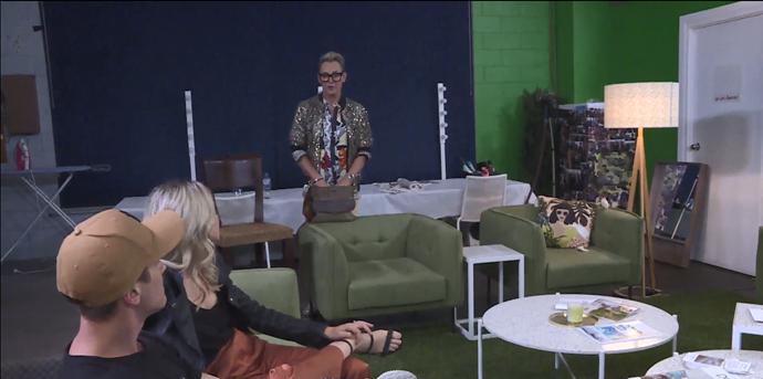 Mitch chats to Tess backstage.