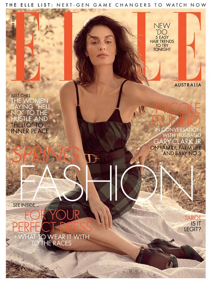Nicole Trunfio on the cover of Elle Australia.