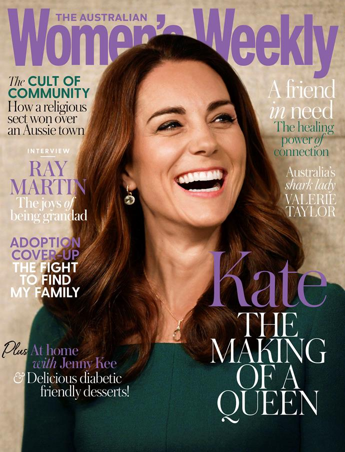 Duchess Catherine on the cover of the October issue of AWW.