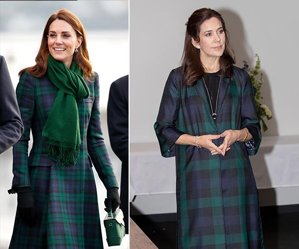 When winter rolls around, there's nothing more snuggly and stylish than a green tartan coat.