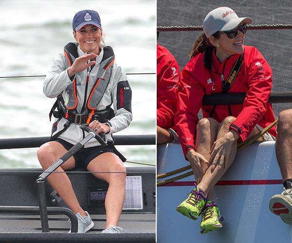 The active royals know their way around a sail boat...and look good in shorts too!