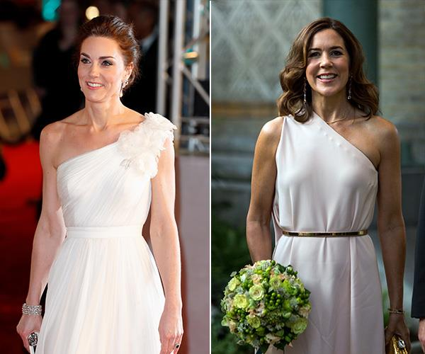 In fact, that's not the only time the royals have rocked a one-shouldered look.