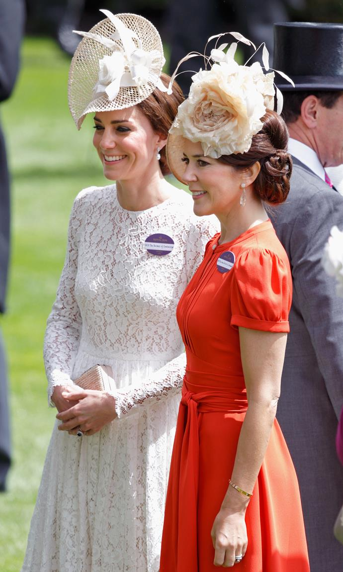 Back when the two attended Royal Ascot together, we couldn't help but notice their similar choices of hat.