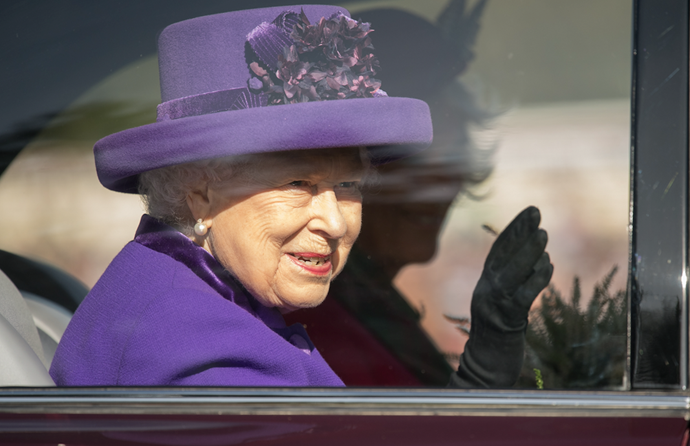 Queen Elizabeth was a vision in purple as she attended the annual event in Scotland.