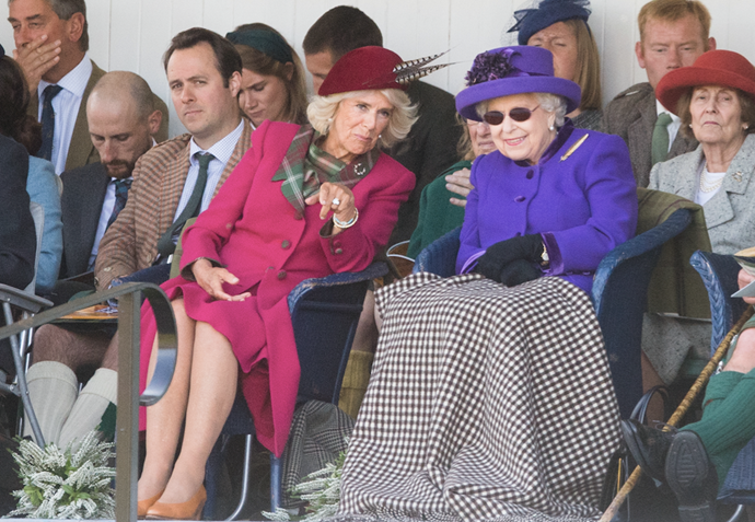 Camilla looked stylish alongside the Queen as the pair watched the events unfold.