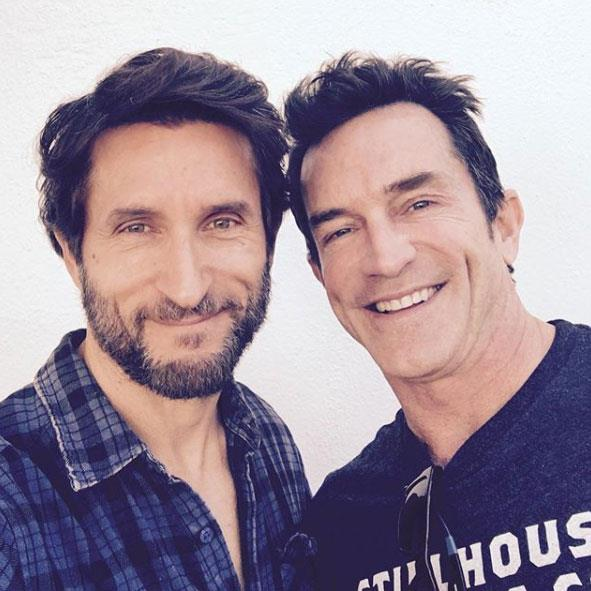 Jonathan with US host Jeff Probst.