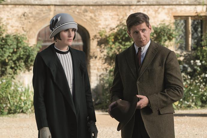 Lady Mary (Michelle) and Tom Branson (Allen Leech) are together again on-screen.