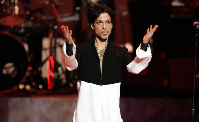 Superstar and pop icon, Prince.