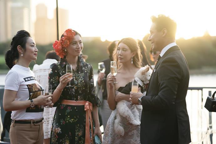 Karim with the cast of *Sydney's Crazy Rich Asians*.