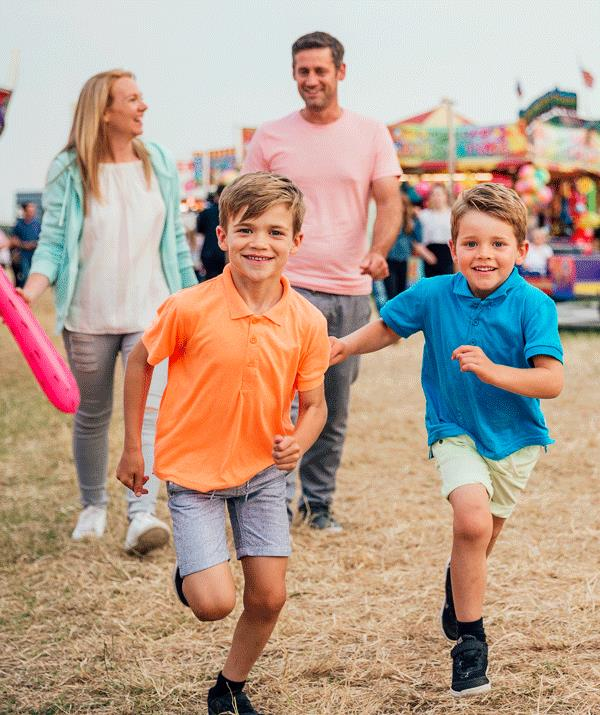 Got a runner or two? Dress your children in bright colours so they are easy to spot in a crowd.