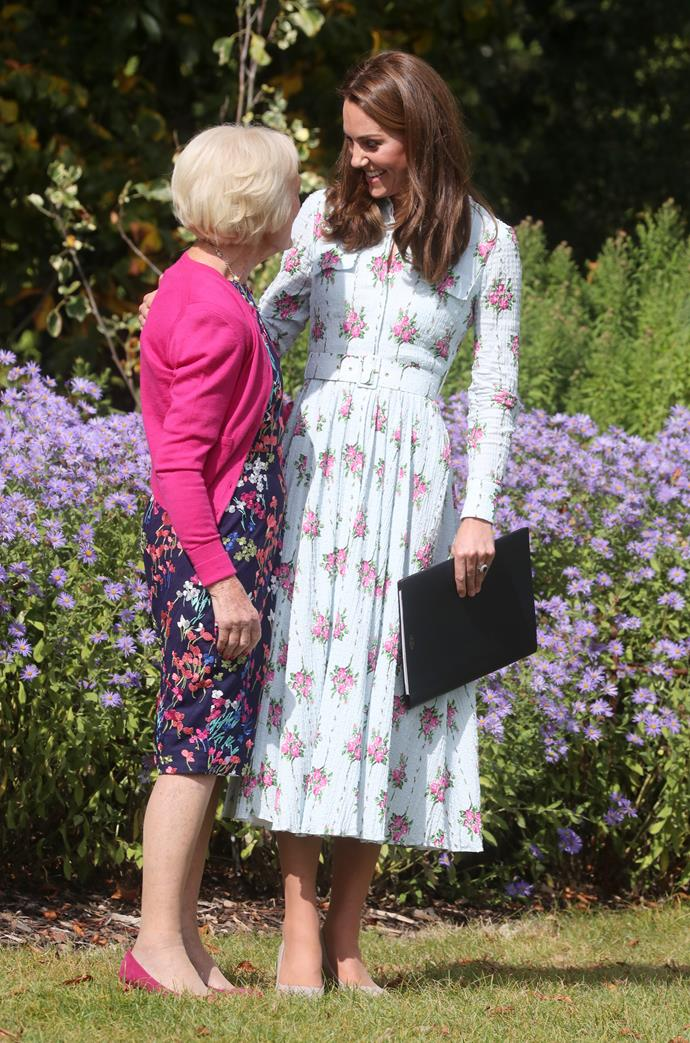 The royal mum of three shared a moment with fellow patron Mary Berry.