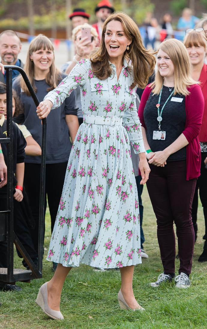 Kate was in her element at the RHS Garden Wisley on Tuesday.