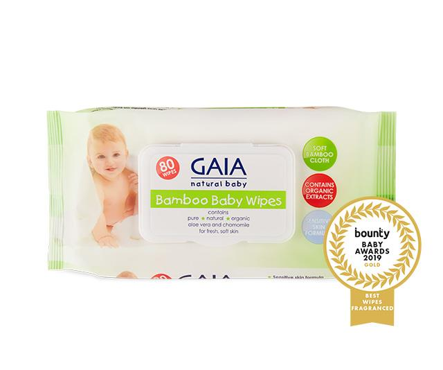 "**[GAIA Natural Baby Bamboo Baby Wipes](https://www.gaiaskinnaturals.com/GAIA-Natural-Baby-249/Bamboo-Baby-Wipes-16192.html|target=""_blank""