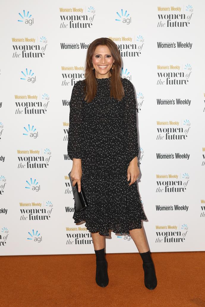 Sally Obermeder sparkles at the Australian Women's Weekly Women of the Future awards.