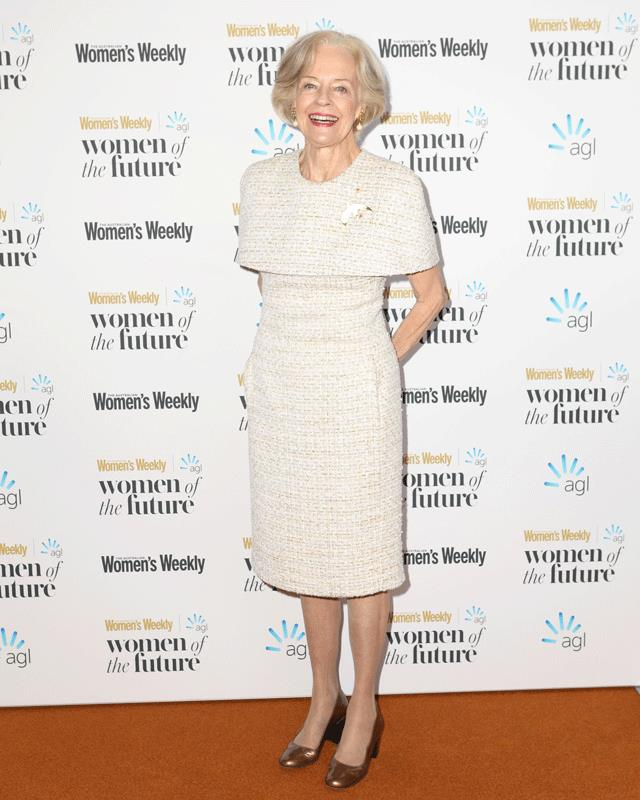 Dame Quentin Bryce arrives at the Australian Women's Weekly Women of the Future Awards.