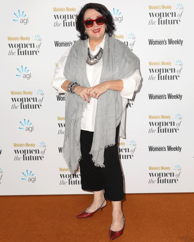 Comedic genius, Wendy Harmer on the red carpet at the Australian Women of the Future Awards.