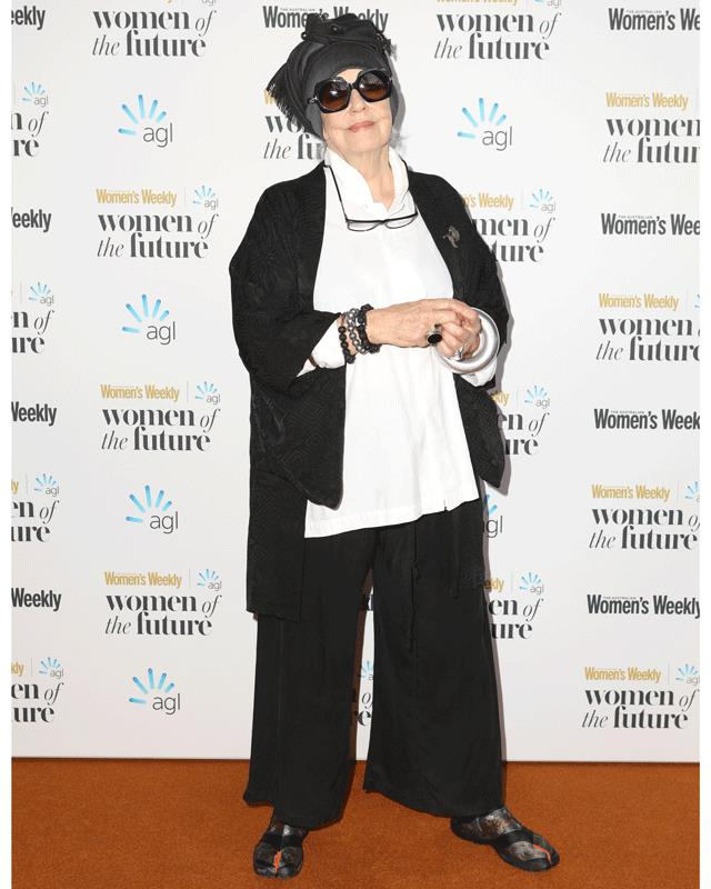 Always glamorous, Wendy Whitely on the red carpet.
