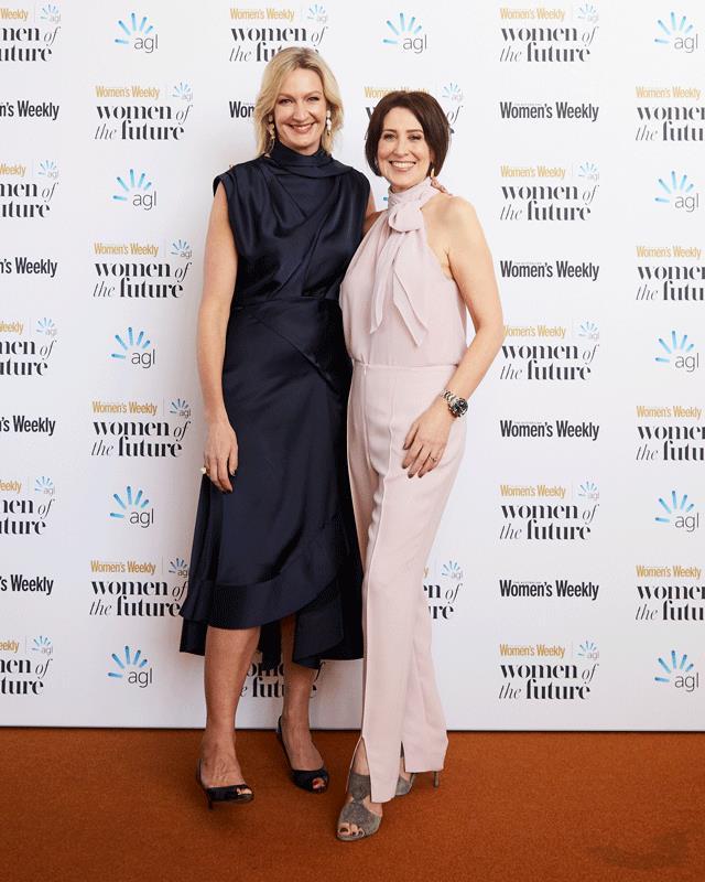 *The Australian Women's Weekly* editor-in-chief, Nicole Byers and journalist, Virginia Trioli.