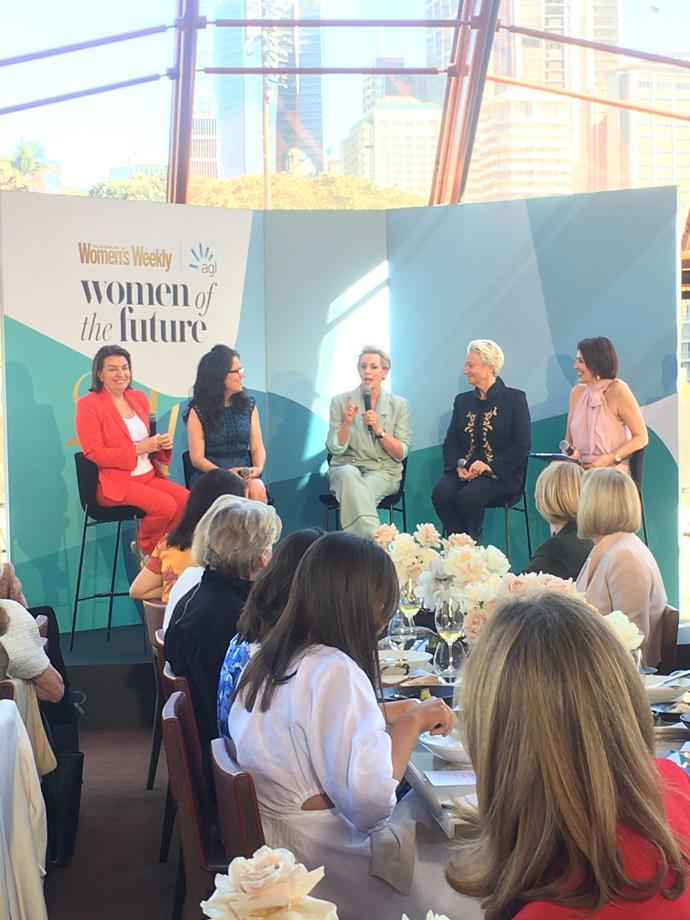 Amanda Keller speaks on the panel at the Women of the Future Awards.