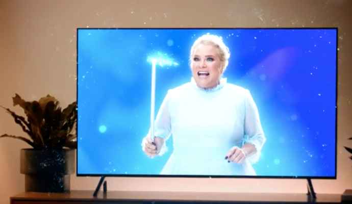 Cute! *Gogglebox*'s Yvie appears as Angie's fairy godmother.