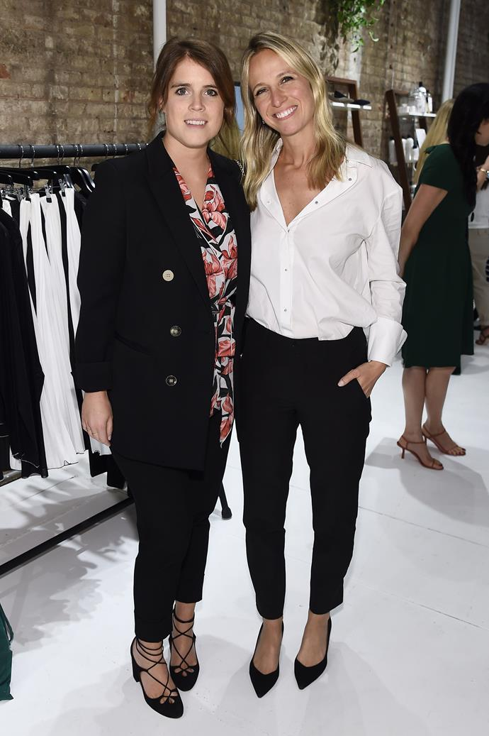 Eugenie and Misha looked ever so fashionable at Misha's New York pop up store.