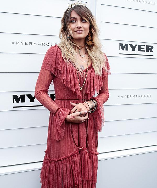 Paris Jackson, daughter of the late Michael Jackson, attended the event in 2017.