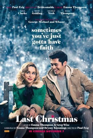 *Last Christmas* starring Emilia Clarke and Henry Golding.