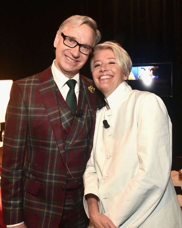 Director Paul Feig and Dame Emma Thompson.