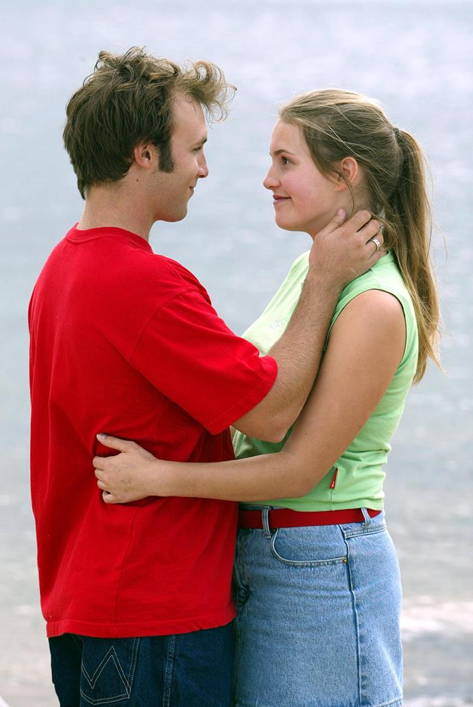 **Kane  &  Kirsty, 2002** <br><br> This relationship was so wrong, but fans couldn't get enough. The big scandal was that Kirsty (Christie Hayes) fell for Kane (Sam Atwell), even though he had raped her sister, Dani (Tammin Sursok) just a year earlier!  <br><br> The pair forged a bond when they were lost in the bush together. After that, they couldn't keep away from each other. Despite a few bumps along the road, like Dani running over Kane, the couple ended up married.  <br><br> The Kirsty and Kane relationship was the subject of a DVD and a book for H&A fans called *Hearts Divided.*