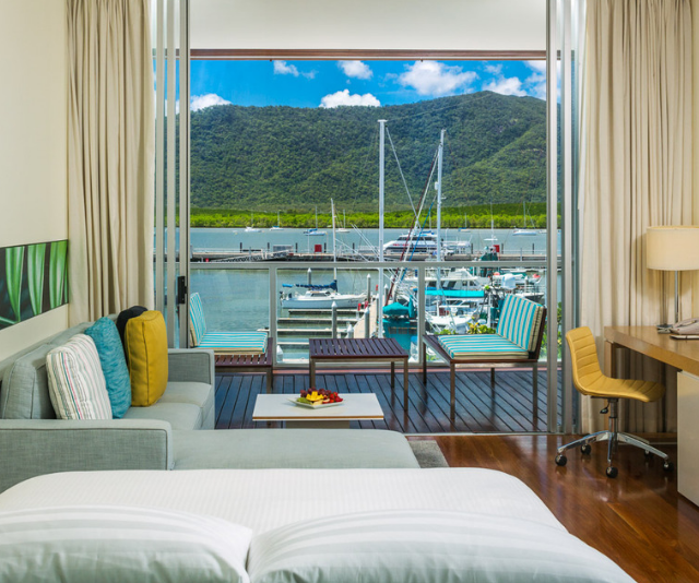 **Shangri-La Cairns:** Location, location, location! Aside from the incredible facilities and service on offer, Shangri-La Cairns' location makes it perfect for families wanting to visit the area. Situated right on the Marina, and just a few minutes stroll to Cairns Esplanade, The Lagoon and Muddy's Playground as well as the town centre where you'll find adventure at the Cairns Zoom and Wildlife dome. Shangri-La Cairns offers everything you need to get the full experience of Cairns right at your doorstep. The staff are passionate about Cairns and are more than willing to share that passion with you to ensure your family get the full experience of child-friendly Cairns during your stay. Oh, and the breakfast buffet is A+!