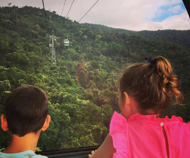 **The Skyrail Cable Car:** For those not too keen on zip lining, there's another option for seeing Australia's World Heritage listed Tropical Rainforest from above. Consistently voted as one of the best things to do in Cairns, The Skyrail Cable Car allows you to glide just metres above the pristine rainforest canopy before descending to explore the forest floor at the Red Peak and Barron Falls.