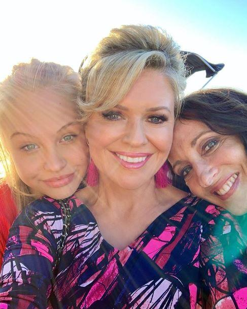 Olivia with Emily Symons and Georgie Parker.