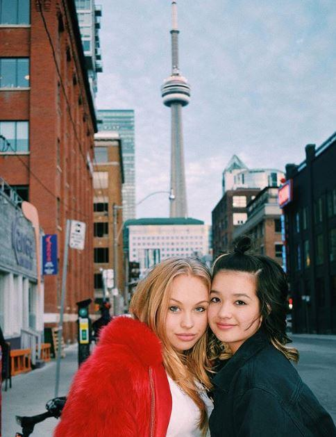 Olivia is filming in Toronto alongside Peyton Elizabeth Lee.