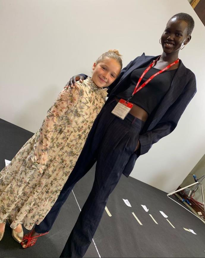 Harper and Adut Akech make one fashionable duo.