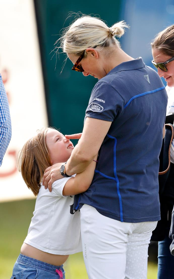Zara Tindall is mum to Mia, five, and Lena, one.