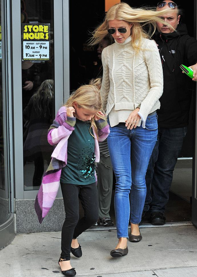 Gwyneth and Apple pictured in New York City in 2011.