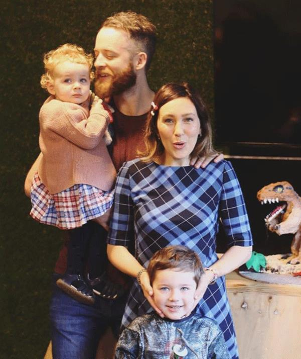 Zoe Foster Blake with husband Hamish Blake and her two-year-old, Rudy and five-year-old, Sonny.