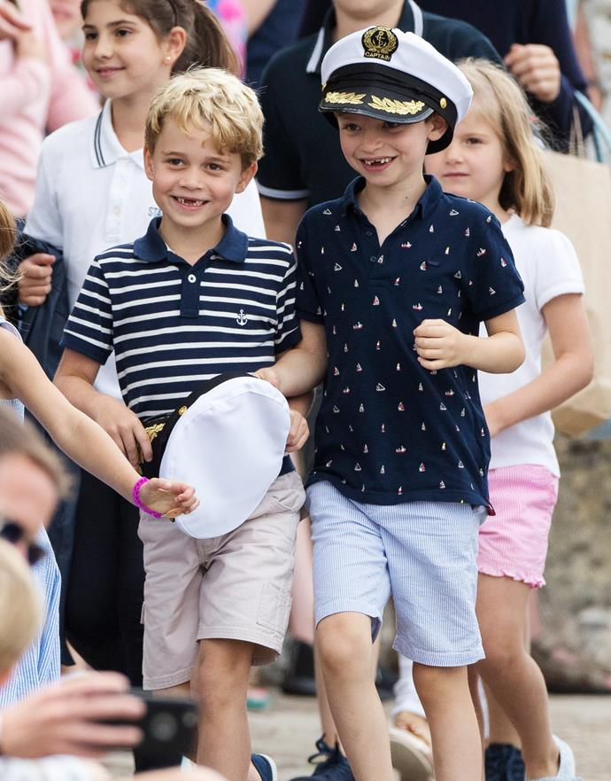 Prince George is popular among his classmates.