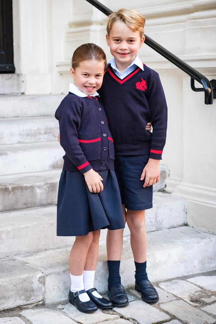The adorable royal siblings look excited to start the new school year. (Kensington Palace)