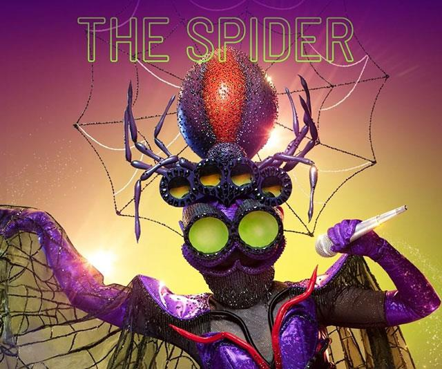 """**The Spider** <br><br> * """"I love to write. I am proud to say my words have gone all over the world"""" <br> * """"My web of life has so many different strands."""" <br> * """"I'm not afraid of the bright lights anymore."""" <br> * """"Unlike tonight which is easy when you can hold 8 pens at once."""" <br> * """"My songs have gone all around the world."""" <br> * """"There's a lot of love at home and I learnt everything I can from daddy long legs."""" <br> * """"Sometimes you're being adored and sometimes you're squashed."""" <br> * """"My family was instrumental in making me who I am."""" <br> * """"I love weaving a web of confusion."""" <br> * """"I am a exotic spider other than that I am just like you."""" <br> * Music has always been important to me, no matter what else I've been doing.  <br> * Other clues: Cooking, Chef, Pope, Jenifer Aniston, Exercise  <br> * """"Stay out of the fire or you could get burnt""""! <br> * Song: *Long Way to the Top* <br> * """"We spiders are very level headed, but I famously got carried away."""" <br> * """"I usually do not sing a song like that."""" <br> * """"My initial fame had a golden aura"""" <br> * """"I like to hang out with the girls but not all the time"""" <br> * """"Sometimes you're a part of a team and sometimes you're solo."""" <br> * """"When you believe anything is possible."""" <br> * Song: """"Zombie"""" <br> * """"I came to teamwork later in life and found happiness in a group of girls."""" <br> * Netball <br> * """"I know I took a risk with my last song."""" <br> * """"I know Aussie spiders have a terrible reputation but I'm not like that."""" <br> * """"Hitting the heights for an Olympic sport is more than just a childhood dream."""" <br> * """"Took this spider into Hollywood."""" <br> * Performs for the young. <br> * """"Heaven on earth, that is where I get my power."""" <br> * Song: *Titanium* <br> * """"I can sing prayers in a Papua New Guinean dialect but I haven't in a long time."""" <br> * """"There can be no doubt, this spider's voice is hitting new heights."""" <br> * The panel have given wrong guesses. <br> * """"I'm starstruck by the amazing voices I'm """