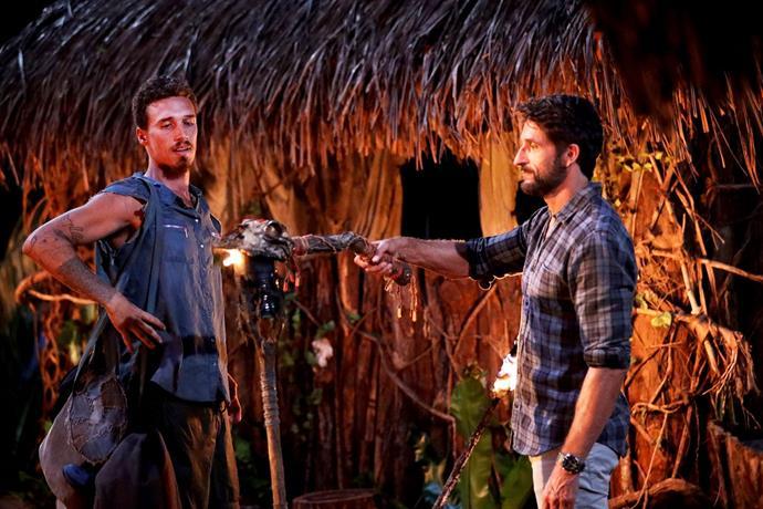 Luke's torch is snuffed by Jonathan LaPaglia on Australian Survivor.
