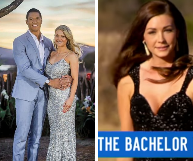 Sam Frost's (left) silver gown was  dead giveaway she would triumph over black-dress-clad Lisa Hyde (right).